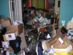 Example of hoarding in a house